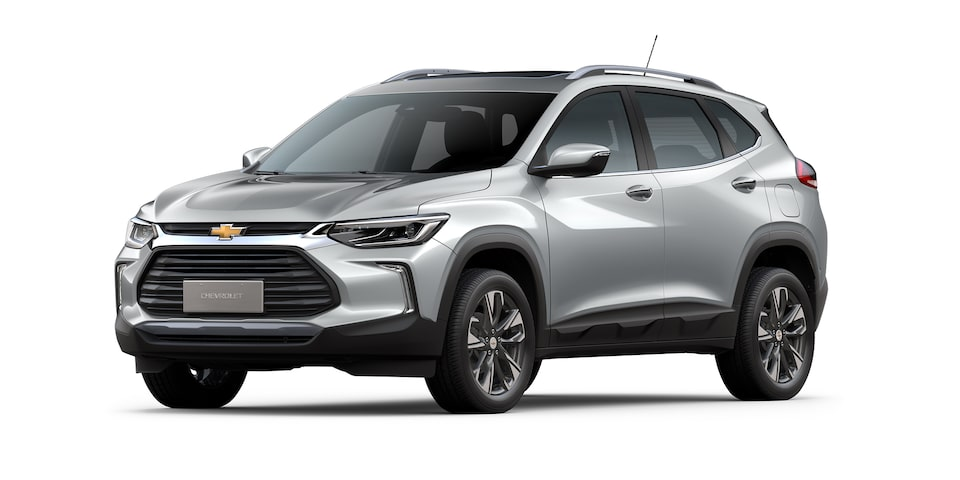 Chevrolet Tracker 2021 color plata brillante