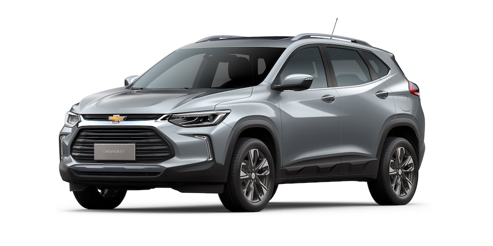 Chevrolet Tracker 2021 color gris satín